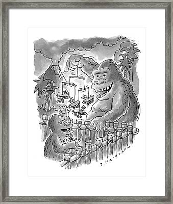 New Yorker March 13th, 2000 Framed Print by Tom Hachtman