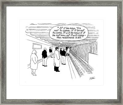 New Yorker May 29th, 2000 Framed Print by Tom Kleh