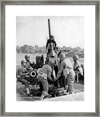 Soldiers Training Framed Print