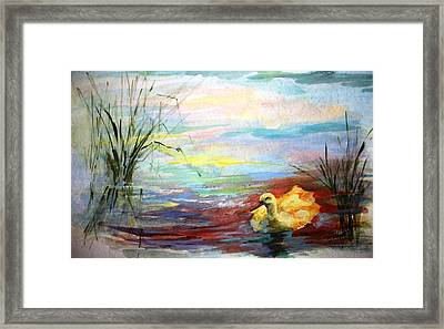 Untitled Watercolor       Framed Print by Mary Spyridon Thompson