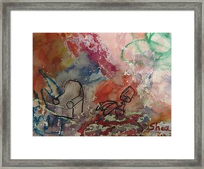 Untitled Watercolor 1998 Framed Print by Shea Holliman
