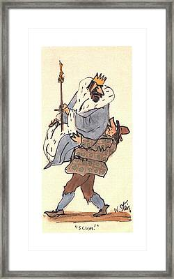 New Yorker January 14th, 2002 Framed Print by William Steig
