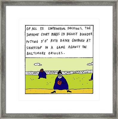 Of All Its Controversial Decisions Framed Print