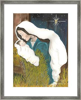 Unto Us A Child Is Born-glory To God - Christmas Framed Print by Jan Dappen