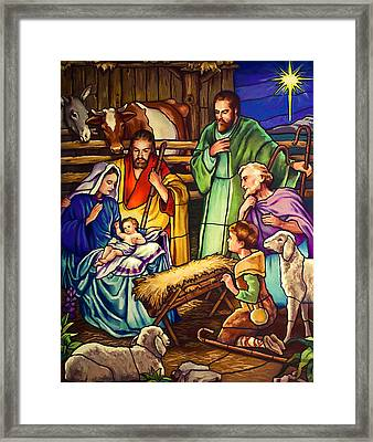 Unto Us A Son Is Given Framed Print
