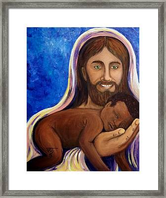Unto You A Godly Son Is Given Framed Print by Pamorama Jones