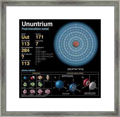 Ununtrium Framed Print by Carlos Clarivan