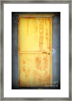 Framed Print featuring the photograph Unused Door by Clare Bevan