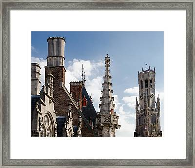 Unusual Brugge Framed Print