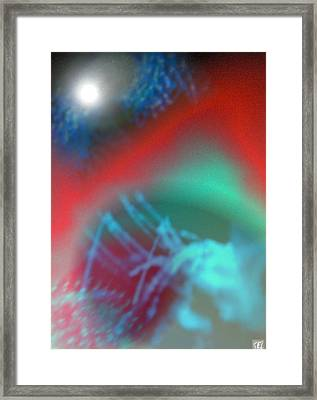 Framed Print featuring the digital art Unusual by Kelly McManus