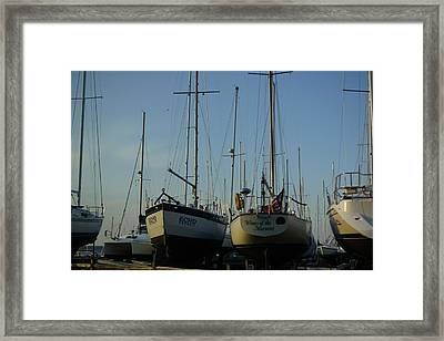 Sailboats.....  Spring Opening Of The Echo And The Wings Of The Morning  Framed Print by Rosemarie E Seppala