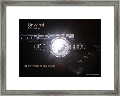 Unwind - Let Go Framed Print