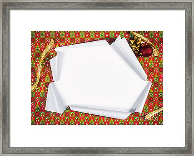 Unwrapping Gifts Framed Print