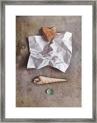 Unwritten Letter 1 Framed Print by Elena Kolotusha