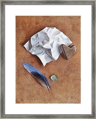 Unwritten Letter 2 Framed Print by Elena Kolotusha