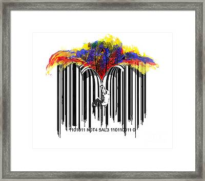 Unzip The Colour Code Framed Print