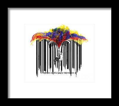 Barcode Framed Prints