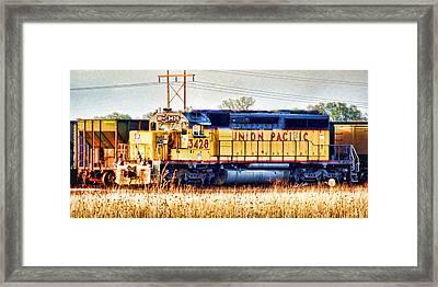 Up 3428 Rcl Locomotive In Color Framed Print