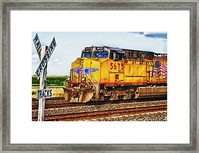 Framed Print featuring the photograph Up 5675 by Bill Kesler