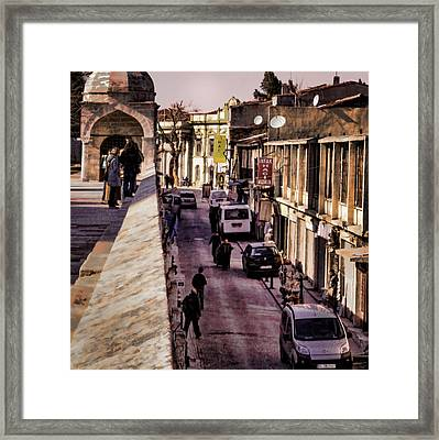 Up Above And Down Below Framed Print by Joan Carroll