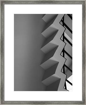 Framed Print featuring the photograph Up And Down - Abstract by Steven Milner
