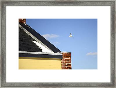 Up And Over Framed Print by Corinne Rhode