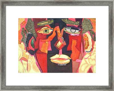 Up Close And Personal Framed Print by Diane Fine