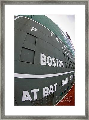 Up Close And Personal To The Green Monster Framed Print by Bryan Maransky