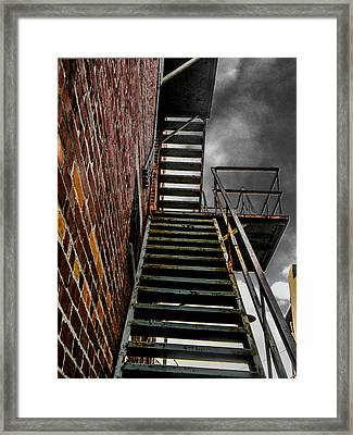 Up Fire Escape Framed Print