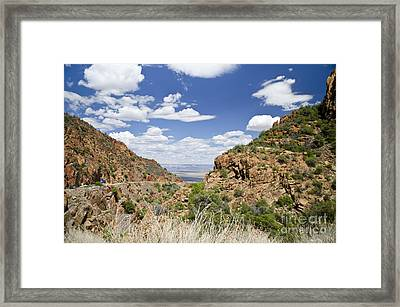 Up From Jerome Arizona Framed Print by Maria Janicki