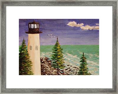 Up In Old Maine Framed Print
