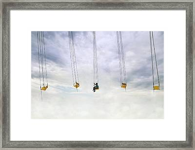 Up In The Air! Framed Print