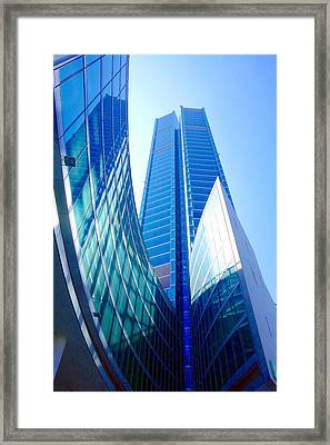 Up In The Blue Framed Print by Valentino Visentini