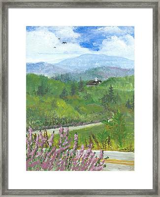 Up In The Mountains Framed Print by Christina Verdgeline