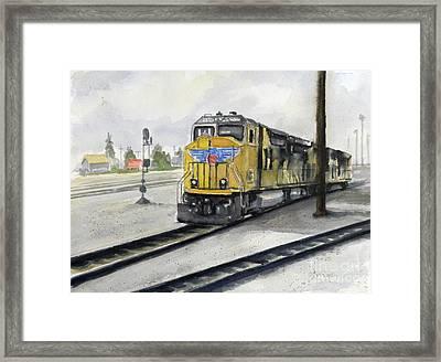 U.p. Locomotive Framed Print