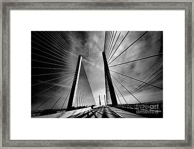 Framed Print featuring the photograph Up N Over by Robert McCubbin