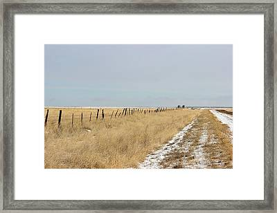 Up On The Bench Framed Print