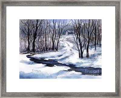 Up On The Hill  Framed Print