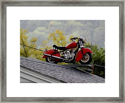 Up On The Roof Framed Print by Wild Thing
