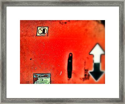 Up Or Down Framed Print