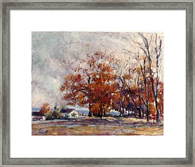 Up State Ny - Nyack Framed Print