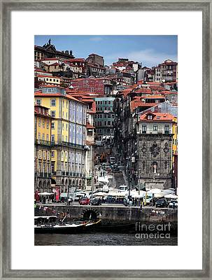 Up The Hill In Porto Framed Print