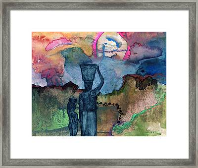 Up The Hill Framed Print by Sarah Wathen