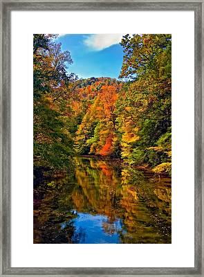 Up The Lazy River Painted Framed Print by Steve Harrington