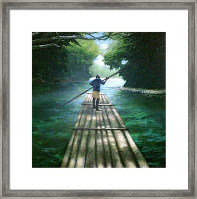 Up The River Framed Print by Arshaad Norwood