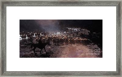 Up The Road Framed Print by Jerry McElroy