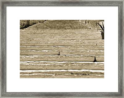 Up The Steps Framed Print by Corinne Rhode