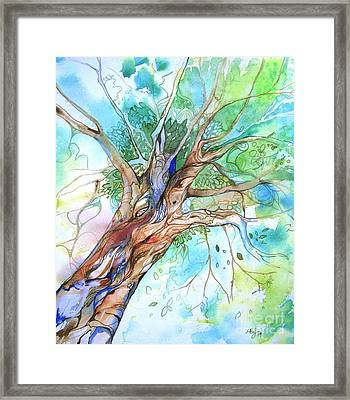 Up Through The Leaves Framed Print by Maya Simonson
