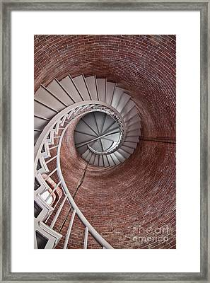 Up Through The Spiral Staircase Framed Print by K Hines