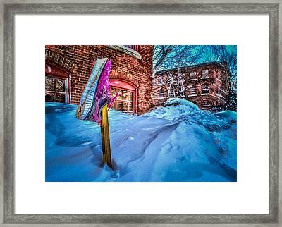 Up To A Fila Of Snow Framed Print